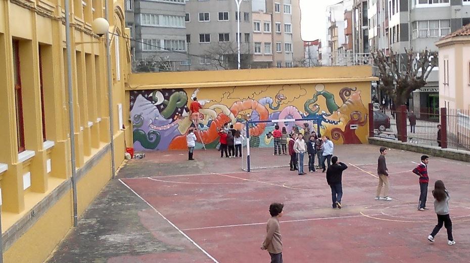 mural de un cole